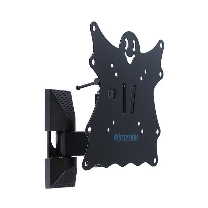 """Кронштейн Kromax CASPER-204, для ТВ, наклонно-поворотный, 15""""-40"""", 57-410 мм от стены,черный"""