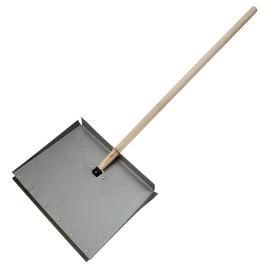 Лопата фанерная, ковш 380 х 500 мм, с металлической планкой, деревянный черенок Ош