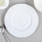 Блюдце d=13,5 см «Афродита» цвет белый