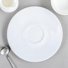 Блюдце 17 см «Паула», цвет белый