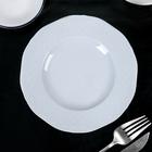 Тарелка мелкая 17 см «Афродита», цвет белый