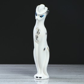 """Копилка """"Багира в шляпе"""", покрытие флок, белая, 43 см"""