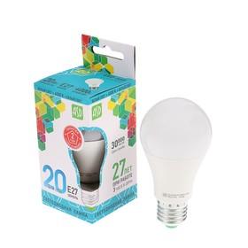 Лампа светодиодная ASD, Е27, 20 Вт, 210 - 240 В, 4000 К