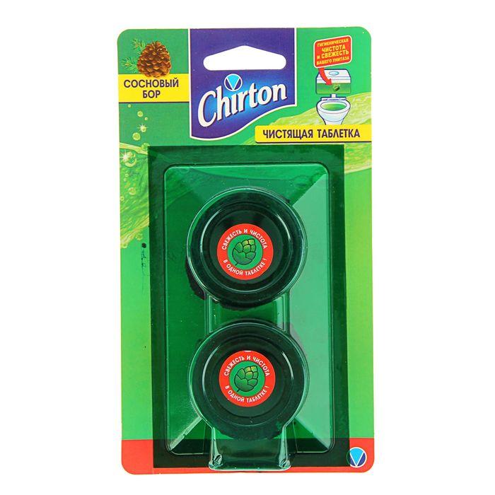 """Чистящие таблетки для унитаза Chirton """"Сосновый бор"""", 2 шт. × 50 г"""