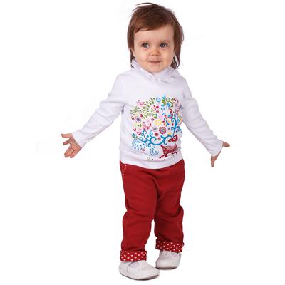 """Джемпер для девочки """"Матрёшка"""", рост 74 см (48), цвет белый (арт. ДДД651067_М)"""
