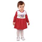 """Платье для девочки """"Матрёшка"""", рост 98 см (56), цвет красный, принт горошек"""