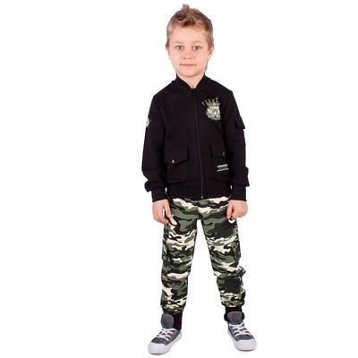 """Куртка для мальчика""""Патруль"""", рост 128 см (64), цвет чёрный (арт. ПДД457258)"""