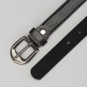 Strap baby smooth, gloss, screw, metal buckle, width 2 cm, 70-90 cm, color black