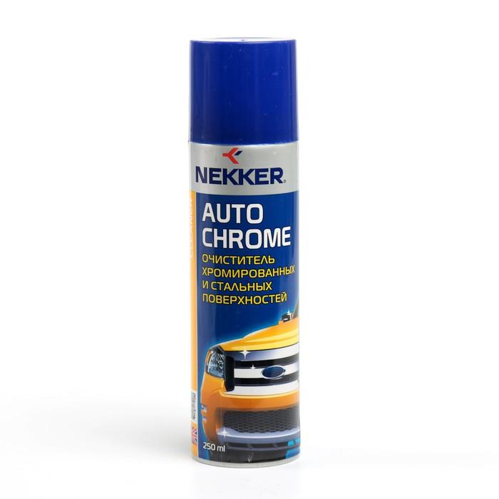 Очиститель Nekker для хромированных и стальных поверхностей, аэрозоль, 250 мл