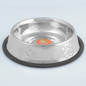 Bowl with non-slip base is raised, 710 ml