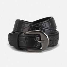 Ремень детский 'Рептилия', винт, пряжка под металл, ширина - 2см, 70-90 см, цвет чёрный Ош