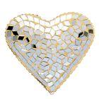 """Посвечник стекло """"Сердце"""", золото"""