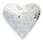 """Посвечник стекло """"Сердце"""", серебро"""
