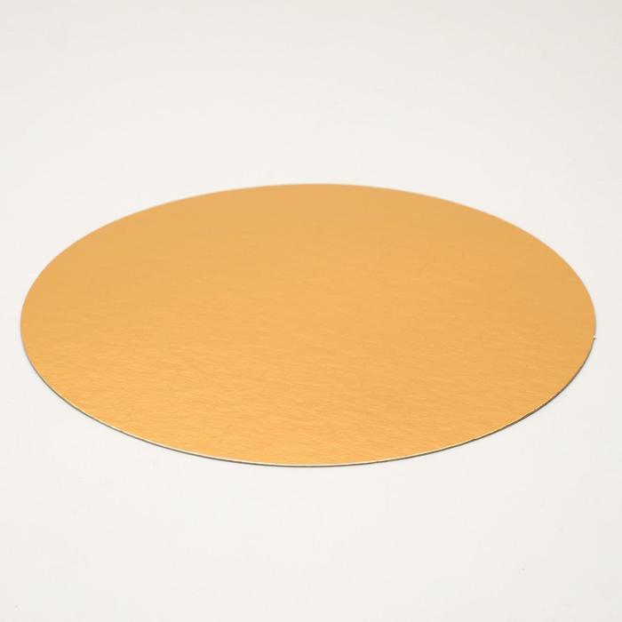 Подложка 32 см, золото-серебро, 0,8 мм - фото 308035199