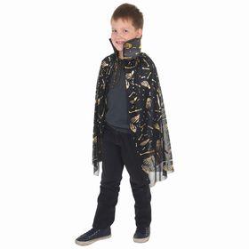 """Carnival cloak """"hands"""", gold on black, length 73 cm"""