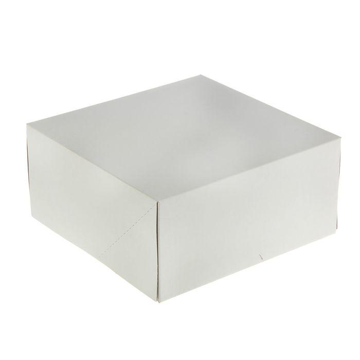 Кондитерская упаковка, короб, белый, 25,5 х 25,5 х 12 см - фото 308034937