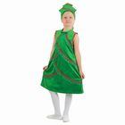 """Карнавальный костюм """"Ёлочка плюшевая"""", платье со стойкой, кокошник, р-р 32, рост 128 см"""