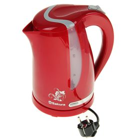 Чайник электрический Sakura SA-2318RG, 2200 Вт, 1.7 л, серо-красный