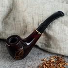 """Трубка курительная """"Стандарт"""", с инкрустацией, под фильтр 9 мм"""