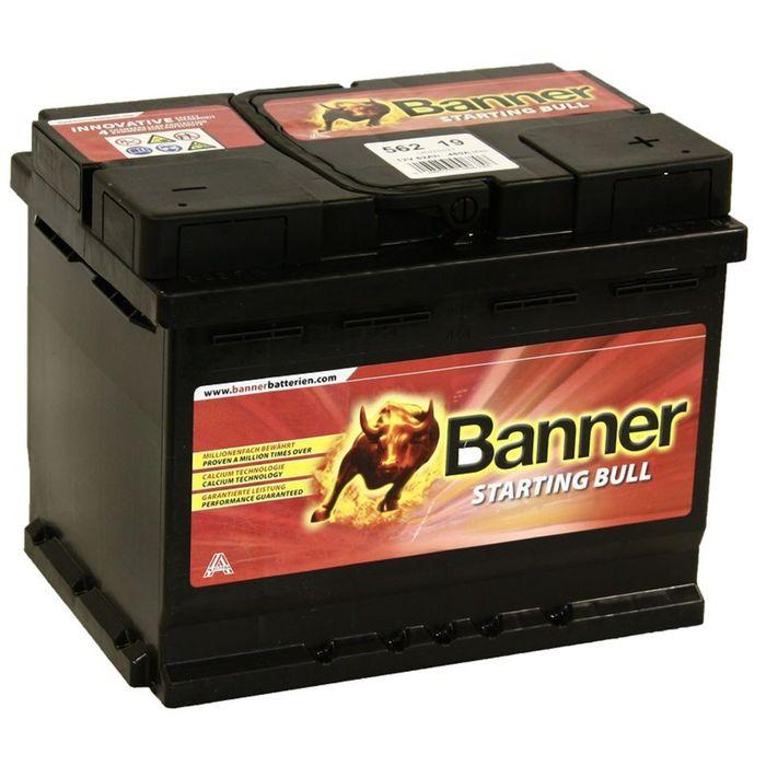 Аккумуляторная батарея Banner 62 Ач, обратная полярность Starting Bull 562 19