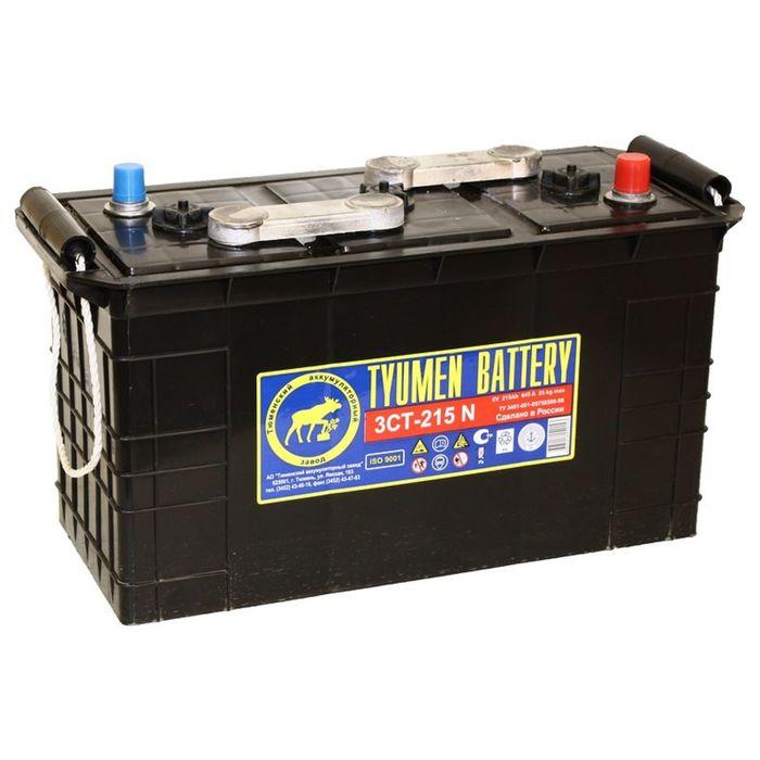 Аккумуляторная батарея Тюмень 215 Ач 3СТ-215N сух.