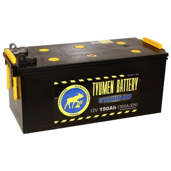 Аккумуляторная батарея Тюмень 190 Ач 6СТ-190L, Standard, болт-клема