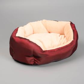Лежанка для животных 'Комфорт' 38 х 25 х 14 см, тафта, микс цветов Ош