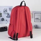 Рюкзак молодёжный на молнии, 1 отдел, наружный карман, красный