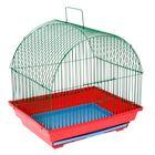 Клетка для птиц малая, полукруглая крыша, 35 х 28 х 37см