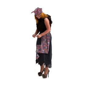 Карнавальный костюм «Баба-яга», р. 44-50, рост 170 см, цвета МИКС