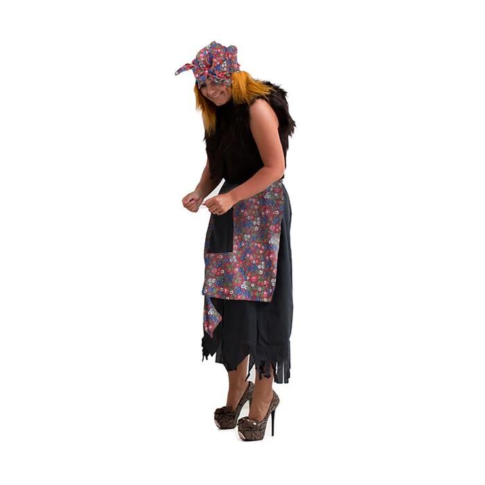 Карнавальный костюм «Баба-яга», р. 44-50, рост 170 см, цвета МИКС - фото 1668688