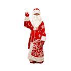 """Карнавальный костюм """"Дед Мороз"""", шапка, борода, шуба, пояс, варежки, 5-7 лет, р122-134 см"""