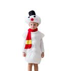 """Карнавальный костюм """"Снеговик"""", 3-5 лет, рост 104-116 см"""