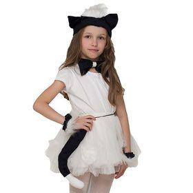 """Карнавальный набор """"Котёнок"""", повязка с ушками, бабочка, манжеты, хвостик"""