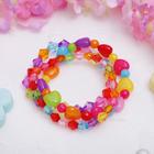 """Браслет детский """"Выбражулька"""" 3 нити, кристаллики и сердечки, цветной"""