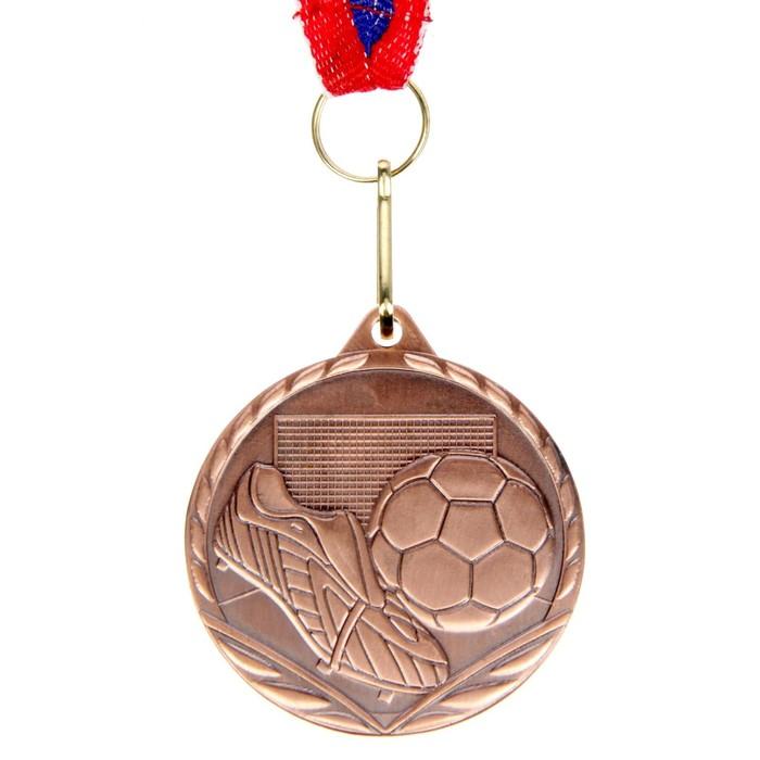 Медаль тематическая «Футбол», бронза, d=4,5 см