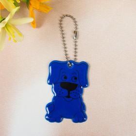 Светоотражающий элемент 'Собака', 6*3,5см , цвет синий Ош