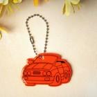 """Светоотражающий элемент """"Машинка"""", 5,5*3см , цвет оранжевый"""