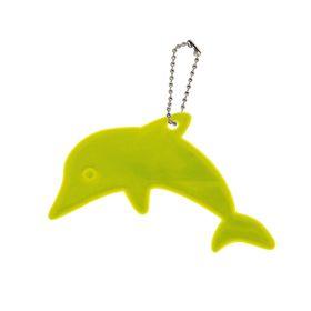 Светоотражающий элемент 'Дельфин', 7*5,2см , цвет жёлтый Ош