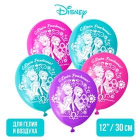 """Воздушные шары «С Днем Рождения», Холодное сердце, 5 шт., 12"""" в Донецке"""