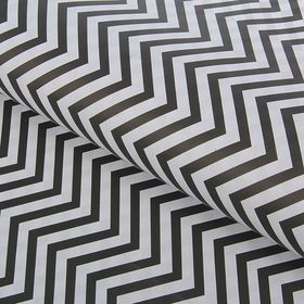 """Paper double-sided """"Zigzags"""", black, 80 g/m2, 60 x 60 cm"""