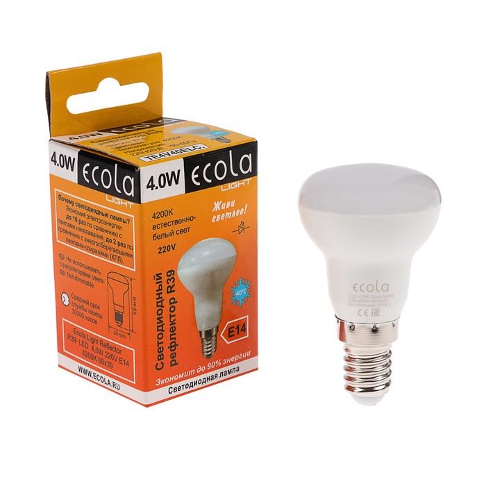 Лампа светодиодная Ecola Light Reflector, R39, 4 Вт, E14, 4200 K, дневной белый