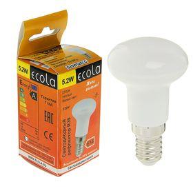 Лампа светодиодная Ecola, R39, 5.2 Вт, Е14, 2700 K, 69x39, теплый белый