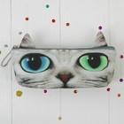 """Мягкий пенал """"Котик"""" разноцветные глазки"""