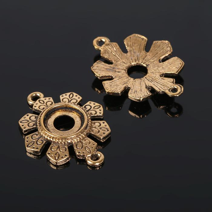 Коннектор (набор 4шт), площадка 10*10мм, Т315, цвет черненое золото