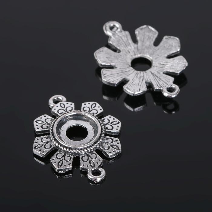 Коннектор (набор 4шт), площадка 10*10мм, Т315, цвет черненое серебро