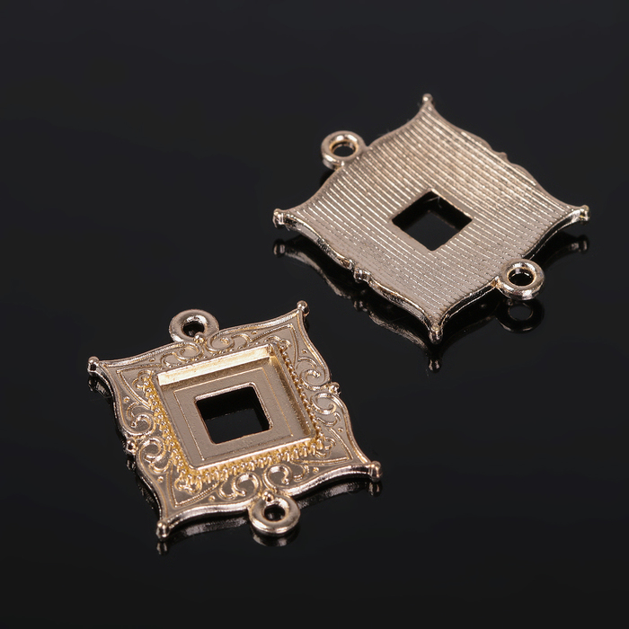 Коннектор (набор 4шт), площадка 10*10мм, Т198, цвет золото
