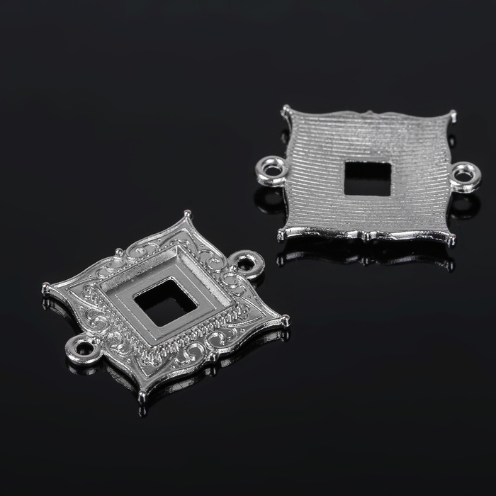 Коннектор (набор 4шт), площадка 10*10мм, Т198, цвет серебро