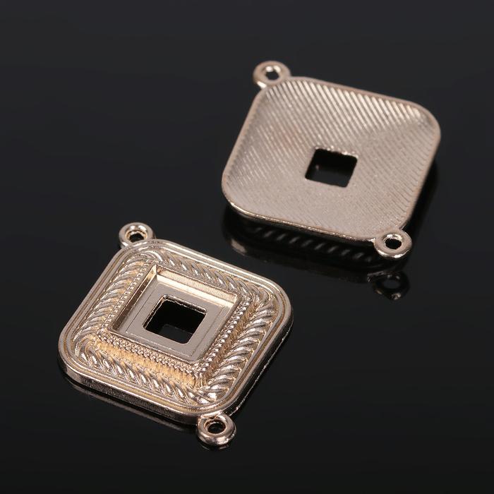 Коннектор (набор 4шт), площадка 10*10мм, Т197, цвет золото