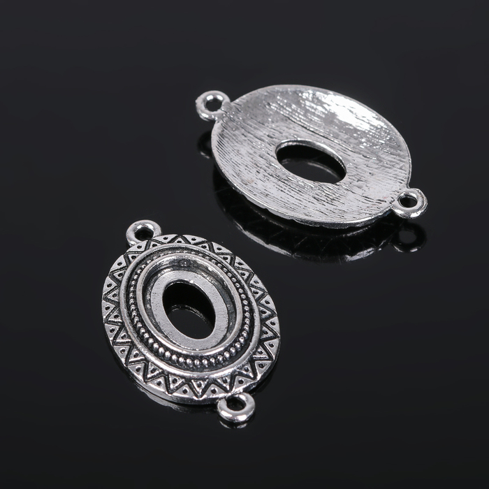 Коннектор (набор 4шт), площадка 10*14мм, Т319, цвет черненое серебро